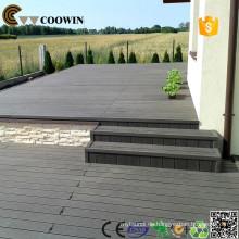Holz-Blick Gummi-Bodenbelag Holz Kunststoff-Composite-Decking Wpc Bodenbelag