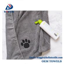 Toalla del animal doméstico de la microfibra de la promoción 2018 con el logotipo impreso