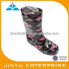 pvc transparent rain boots