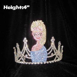 4in Height Crystal Rhinestone Princess Elsa Anna Crowns