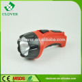 Hochleistungs-Blei-Säure 700mAH 1W LED Kunststoff-Hochleistungs-LED-Taschenlampe Fackel