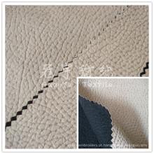 Tecido de sofá composto de imitação de couro padrão de relevo