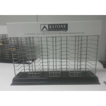 Dekoration Stein Produkte Großhandel Showroom Counter Top Metall Draht Probe Stein Fliesen Display Regal