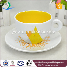 De alta clase de color bastante china taza de café de cerámica con logotipo OEM