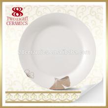 Assiette à dîner chinoise blanche servant plats vaisselle porcelaine