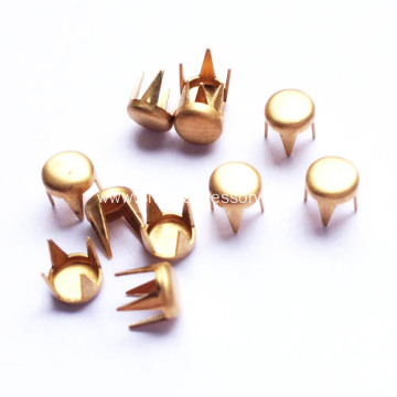 Flat Spot Nailheads with 4 Prongs 6mm