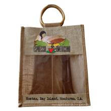 Umweltschutz Jute Tee Einkaufstasche (hbjh-20)