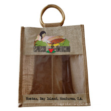 Environmental Protection Jute Tea Shopping Bag (hbjh-20)
