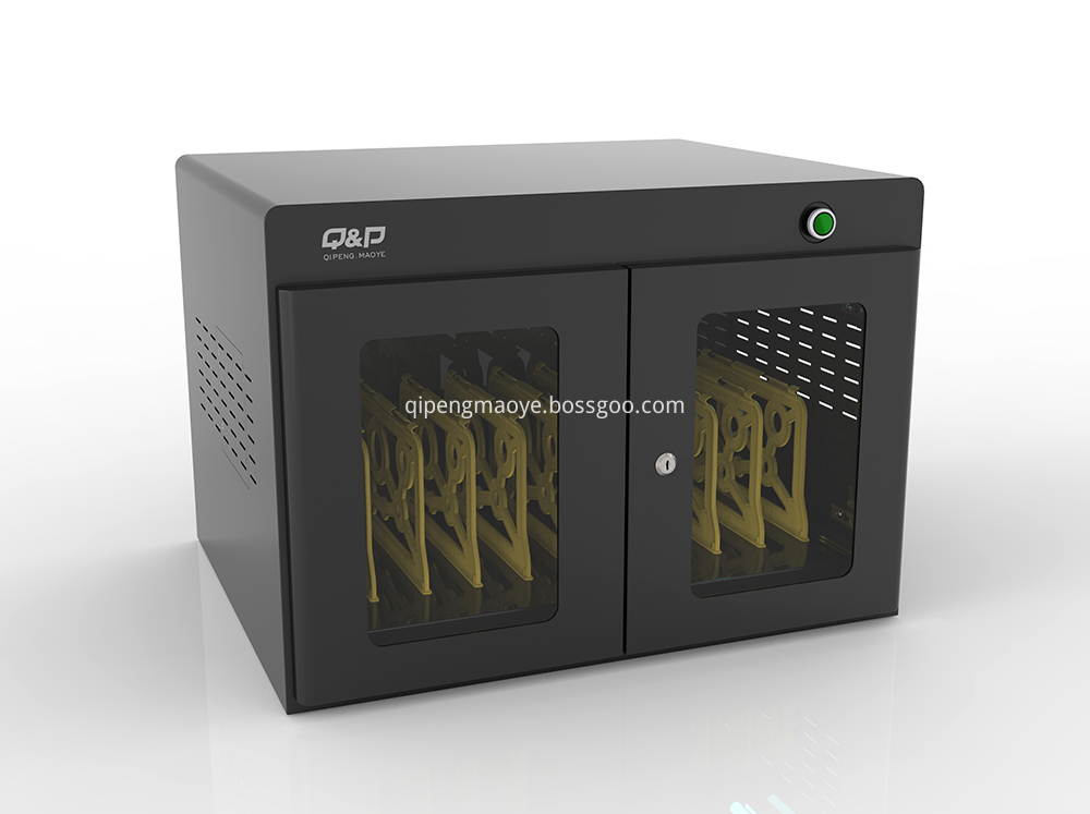 Tablets and phones charging cabinet on office