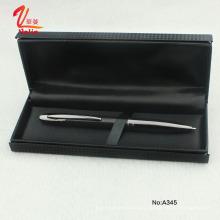 Moda de bolígrafo de metal blanco con caja de regalo Senior