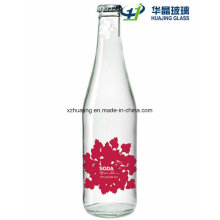 200ml- 750ml Flint Clear Glass Soda Water Bottle with Crown Cap
