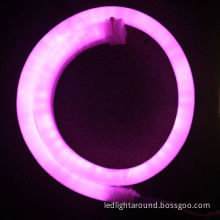 LED flexible neon lights with pink bulbs, 12, 24, 110, 220V
