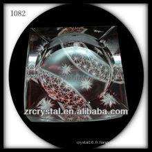 K9 Cendrier en cristal rouge