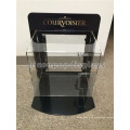 Joyería de acrílico Juegos de pantalla Marco de metal negro con cerradura Portable Counter Top Joyería Escaparate