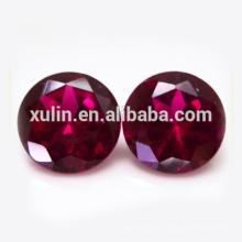 Piedra preciosa sintética redonda Fake Ruby
