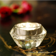 Bougeoir en cristal rond élégant de K9 pour la décoration à la maison