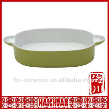 Sartén de cerámica para hornear para microondas, sartén para hornear antiadherente