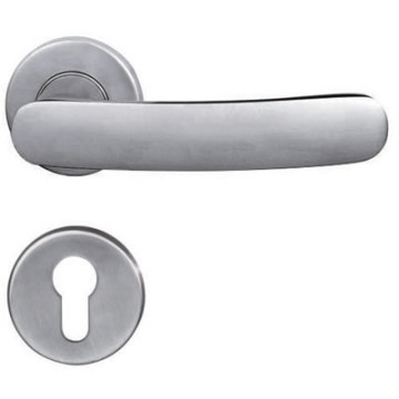 Polished Stainless Steel Solid Lever Door Handle