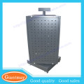 4 sides counter metal turntable stand pegboard swivel display