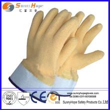 Manguito de seguridad totalmente cubierto con goma de látex guantes de trabajo revestidos