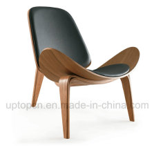 Plywood Leather Lounge Hans Wegner Shell Chair (SP-BC468)