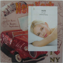 "4""X6"" Car Design Photo Frame"