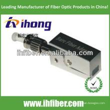 St / pc adaptador de fibra desnudo tipo cuadrado con carcasa metálica