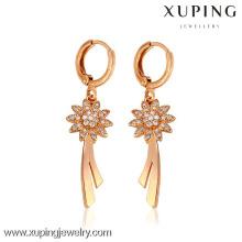 26727-Xuping pendientes al por mayor de la joyería de cobre amarillo con buena calidad