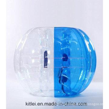 Esporte louco! ! Hot Sale Half Color TPU Inflável bola de bolha de futebol tamanho personalizado, Loopy Ball