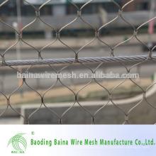 Malha de corda de aço metálico de aço inoxidável