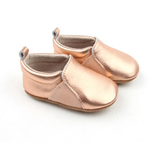 Fashion Gold Leather Baby Toddler Skor nyfödda