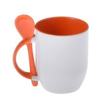 2014 Cheapest Inner Handle Color Spoon Sublimation Mug