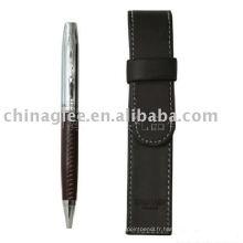 ensemble-cadeau stylo, ensemble de plumes de cuir d'unité centrale