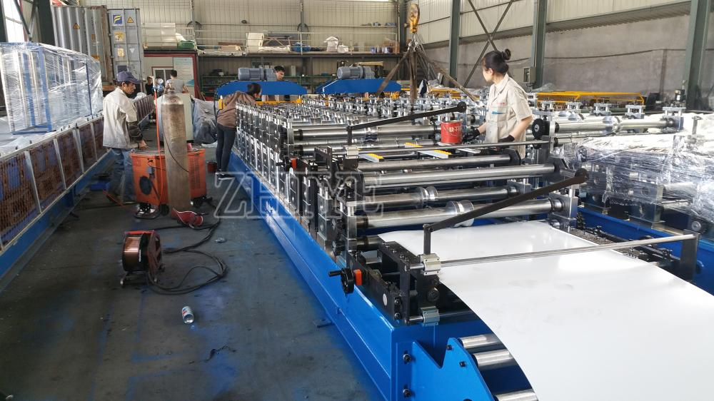 Double Layer Steel Metal Roofing Sheet Roll Forming Line