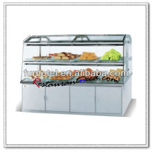 K193 Double Sides Upward Swing Doors Glass Door Display Showcase