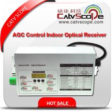 Fornecedor profissional Saída de 2 vias de alto desempenho Agc inteligente controlado CATV FTTH receptor óptico de interior