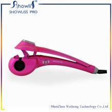 Enrolador de cabelo cerâmico com monitor LCD Curler de cabelo automático