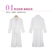 100% Cotton White Color 5 Star Hotel Cut Pile Bathroom Sleepwear