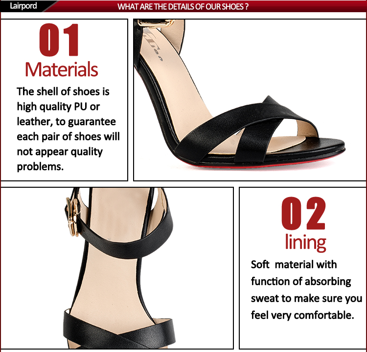 balck real leather comfortable women sexy shoes