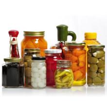 Tarros de vidrio para el almacenamiento de alimentos