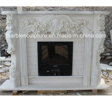 Hot Selling Fashion Design Marble Fireplace Surround Flowers (SY-MF151)