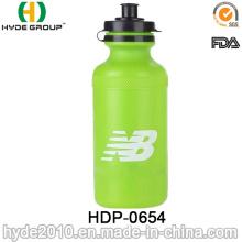 Botella corriente 2017 del deporte plástico libre de BPA de la venta caliente, botella de agua plástica del deporte del PE (HDP-0654)