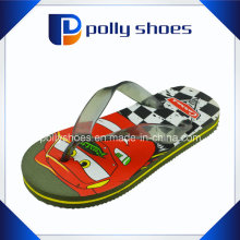 Nouvelle conception Mode Enfants Printed PE Flip Flops