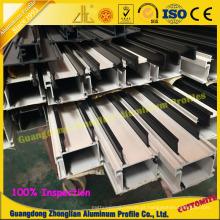 Perfil de construção para vitrine com liga de alumínio