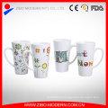 Fabricant chinois Logo personnalisé Tasses en porcelaine blanche / Tasses en céramique