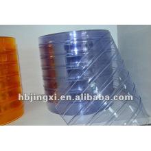 Bule gestreiften PVC weichen Vorhang