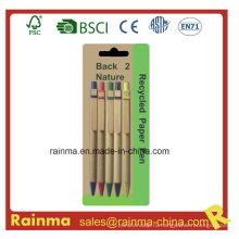 Дешевая бумажная шариковая ручка для рекламного подарка