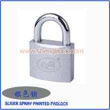 Top Qualität Sliver Spray Painted Eisen Vorhängeschloss mit normalen Tasten