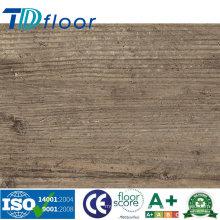 Plancher de vinyle de PVC de planche de bois Handscraped