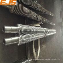 65/132 mostrador giratorio barril del tornillo gemelo cónico